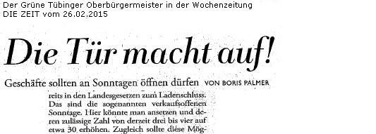 2015-02-26 Titel Die Zeit Sonntagsöffnung