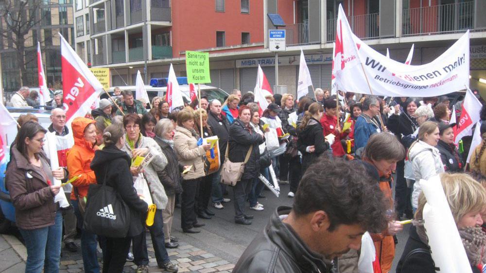 Schlecker-Demo in Frankfurt