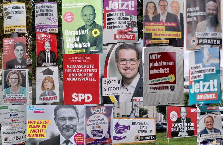 Collage Wahlplakate